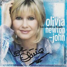 Olivia Newton John signed Back With A Heart cd