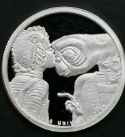 1982 ET 1 Troy Oz .999 Fine Silver Round Vintage Rarities Mint Alien Proof Coin