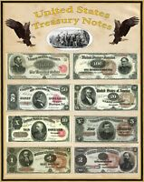 """Poster United States Large Treasury Notes 16"""" X 20"""" Perfect for framing"""