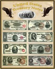 "Poster United States Large Treasury Notes 16"" X 20"" Perfect for framing"