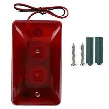 Mini Wired Strobe Warning Siren DC 12V Sound Alarm Flashing Light 120dB Red