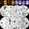 BORN PRETTY Nail Stamping Plates Christmas Snowflake Halloween Skull Image Plate