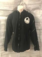 Tim Burtons Nightmare Before Christmas Full Zip Hoodie Sweatshirt Black