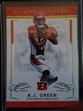 2016 National Treasures AJ Green 18/49 Jersey numbered 1/1