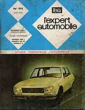 RTA revue technique automobile n° 111 PEUGEOT 504 L  1975
