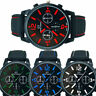 GT Vogue Sport Men Boy Watch Stainless Steel Analog Quartz Military Wristwatch