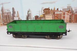 Vintage Prewar Lionel Standard Gauge No.212 Apple Green Gondola W/ Nickel Plates