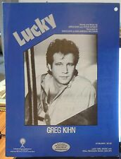 Lucky - Greg Kihn - 1985 US Sheet Music