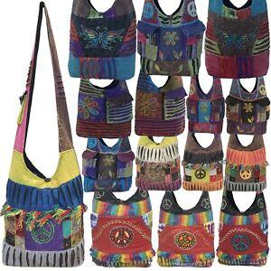 Hippy Handmade Side Crossbody MensWomens  gypsy banjara Handbag Boho Cotton Bags