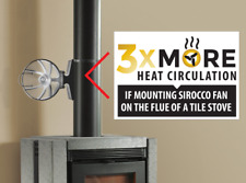 HANSA SIROCCO FIX Heat Powered STOVE FLUE PIPE FAN (Black, Unique Triple Blade)