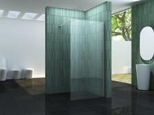 8mm Glas Duschwand SC 140 x 200 cm Walkin Duschabtrennung Dusche Duschtrennwand