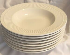 """8 Mikasa Italian Countryside 8 Rimmed Soup Bowls Ivory 9.5"""" DD900 Pristine"""