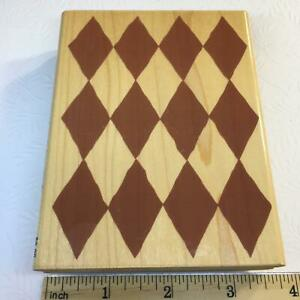 Harlequin Background by Stampabilities Rubber Stamp