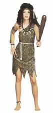 Ladies Cavewoman Jane Fancy Dress Costume Prehistoric Barbarian Jungle Outfit