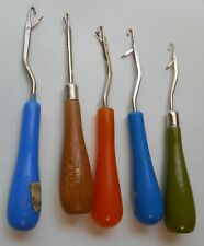 5 Latch Hook Tools Boye- Germany Imra-Smyrnafix Brands -Wood & Plastic Handles