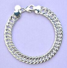 Armband 925 Sterling Silber plattiert Panzerarmband Damen Schmuck Kettchen Neu
