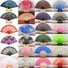 Chinese Spanish Silk Lace Fabric Folding Held Dance Hand Fan Party Wedding Prom