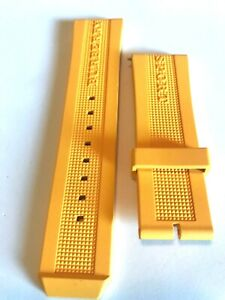 Burberry Genuine Yellow Silicone Watch  Band.   24mm