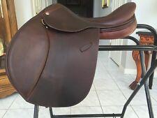"Pessoa A/O English Saddle, 16.5"" Seat, Long Flap, Medium tree, XCH gullet"