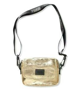 Victorias Secret Crossbody Bag Purse Tote Metallic Gold Logo VS NWT New
