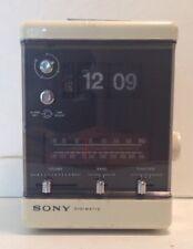 Vintage Sony Digimatic TFM-C550W Flip Clock Cube Alarm 3 Band Transistor Radio