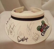 Signed PGA Golf 1999 Colonial  Visor 8 signatures Nick Price Ben Crenshaw ++