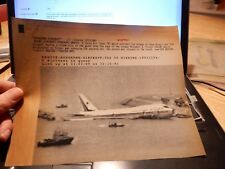 HONG KONG  747  CRASH original press photo from hoard photographs (wired  X1 ) B