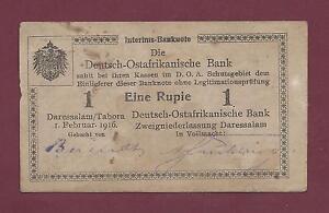 GERMAN EAST AFRICA 1 RUPIEN 1916 VF RARE  GERMANY