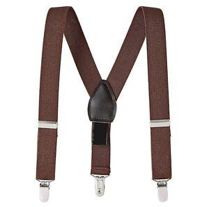 Boys Girls Kids Child Baby Children Toddler Clip on Elastic Suspenders US SELLER