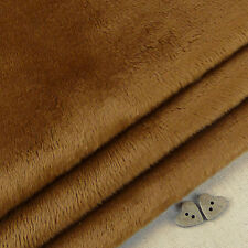 Caramel smooth cuddle soft fur fabric / quilting fleece brown teddy bear toy