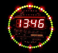 DIY DS1302 Rotating LED Electronic Digital Clock Kit 51 SCM Learning Board 5V xp