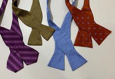 Lot of 4 silk bowties, Isaac Mizrahi, Beau Ties, Tallia