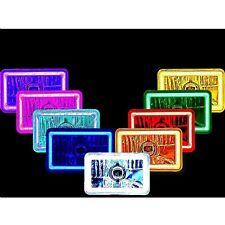 SINGLE 4X6 LED COB Color Change Halo Crystal Headlight Light Bulb Headlamp