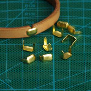 200X Leder Klammern aus Messing für Gürtelschlaufen Lederzubehör