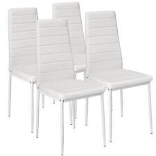 Sillas de Comedor de Poli Piel Juego Elegantes Sillas de Diseño Modernas Blanco