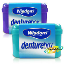 2x Wisdom Denture Box Storing Dental Tooth False Teeth Storage Case Container