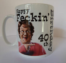 Personalised Mrs Browns Boys Birthday Mug Gift Idea 30th 40th 50th 60th etc etc