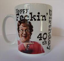 Mrs Browns Boys Personalised Birthday Mug Gift Idea 30th 40th 50th 60th etc etc