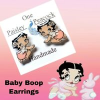 Baby Betty Boop Stud Earrings Handmade Plastic Posts