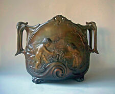 1900 French Art Nouveau Jugenstyle Cast Angel Flower Relief Sign J. Garnier Pot
