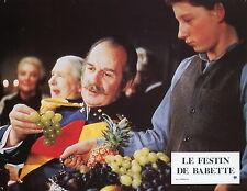 LE FESTIN DE BABETTE 1987 VINTAGE PHOTO N°14 Jarl Kulle Karen Blixen