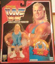 Figura WWF Hasbro Mr. Perfect (Camiseta Azul) Series 8 Tarjeta Roja MOC