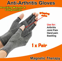 New Magnetic Arthritis Gloves Soft Compression Hand Therapy Support Sore Finger