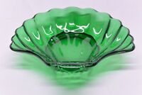 Emerald Green Glass Scallop Shell Soap Dish; Candy Bowl