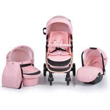 B-Ware Cangaroo Kombikinderwagen Noble 3 in 1 Babyschale Babywanne klappbar pink
