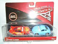 "Mattel Disney Pixar Cars 3 Lightning McQueen & Sally Die-Cast Cars ""NEW"""
