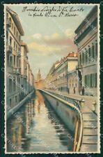 Milano Città Vecchio Naviglio in Via Senato cartolina KF2542
