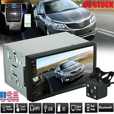 """7"""" 2DIN HD Touch Screen Car Stereo MP5 MP3 Bluetooth Radio AUX Parking Camera US"""
