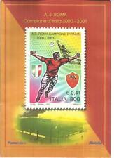 COLLEZIONE FRANCOBOLLI A.S.ROMA Campione d'Italia 2000/2001