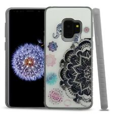 For Samsung Galaxy S9 - Elephant Mandala Hybrid Rubber Crystal Armor Case Cover